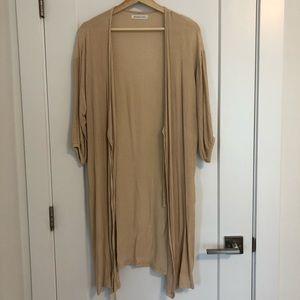 Robe style wrap summer cardigan